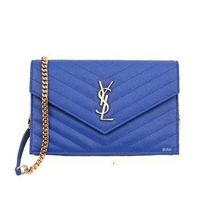 Saint Laurent Monogram Envelope Leather WOC Bag